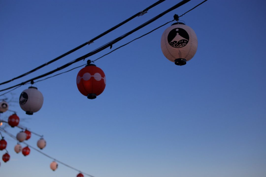 松島流灯会 海の盆