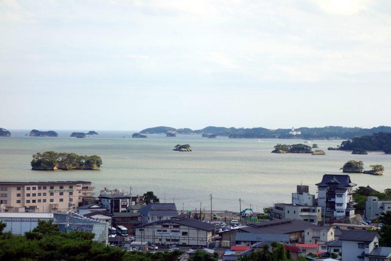 新富山展望台からの松島