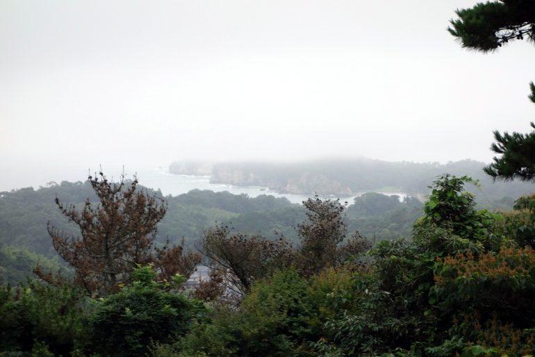 大高森より嵯峨渓方面を望む