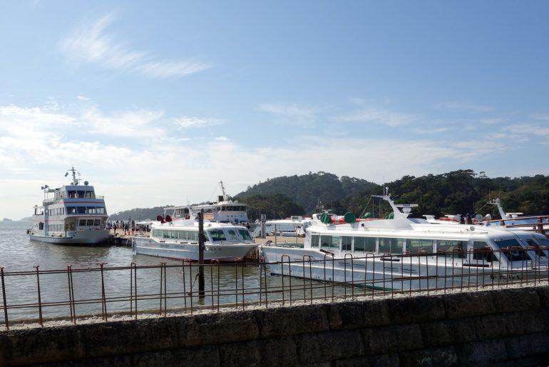 松島海岸中央広場 観光桟橋